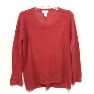 Soft Surroundings Open Knit Mohair Pullover